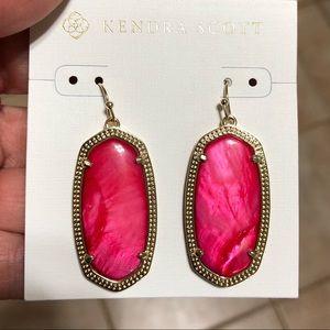 Red Mother of Pearl Kendra Scott Elle Earrings